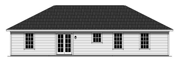 Country Ranch Traditional House Plan 59927 Rear Elevation