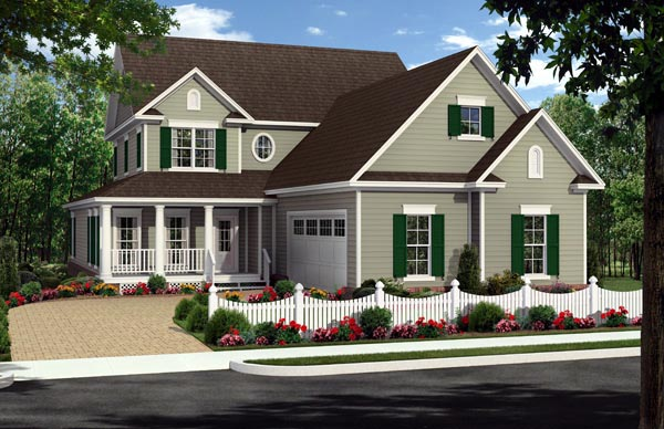 Country Farmhouse Traditional House Plan 59929 Elevation
