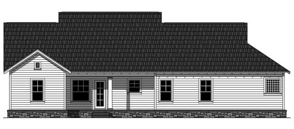 Cottage Country Craftsman House Plan 59933 Rear Elevation