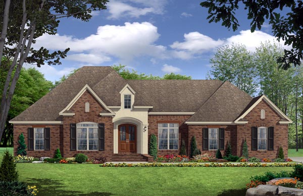 European Traditional House Plan 59935 Elevation