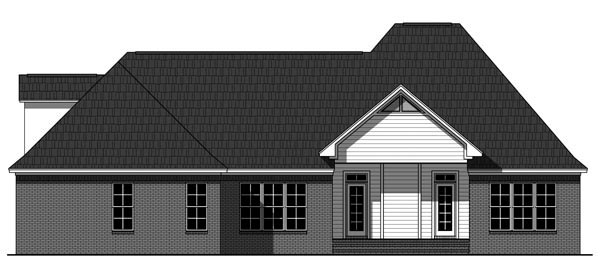 European Traditional House Plan 59935 Rear Elevation