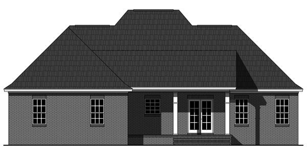Rear Elevation of Country   European   Italian   House Plan 59937