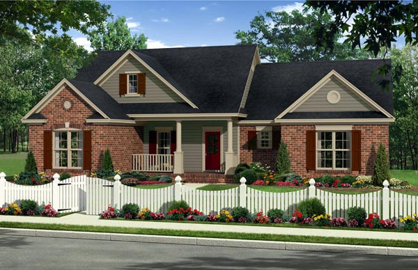 Country Farmhouse Traditional House Plan 59938 Elevation