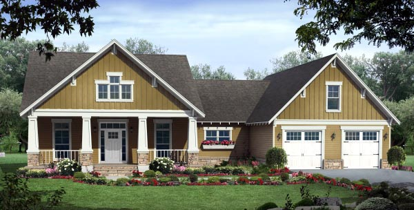 Cottage Country Craftsman House Plan 59944 Elevation
