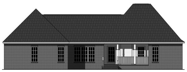 Cottage European Southern Traditional House Plan 59946 Rear Elevation