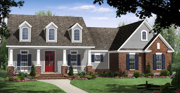 Country Craftsman Traditional House Plan 59951 Elevation