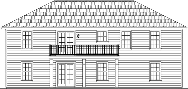 Country Ranch Traditional House Plan 59957 Rear Elevation