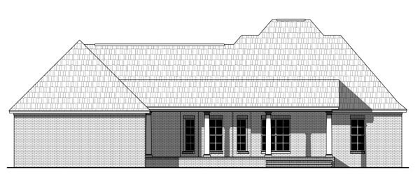 Country Farmhouse Traditional House Plan 59960 Rear Elevation