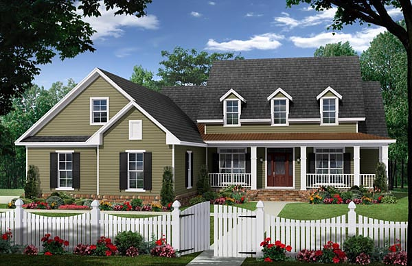 Cape Cod Country Farmhouse Traditional House Plan 59965 Elevation