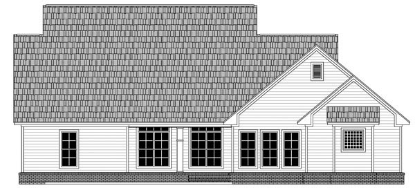 Cape Cod Country Farmhouse Traditional House Plan 59965 Rear Elevation