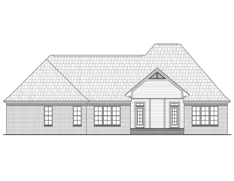 European French Country Traditional House Plan 59966 Rear Elevation
