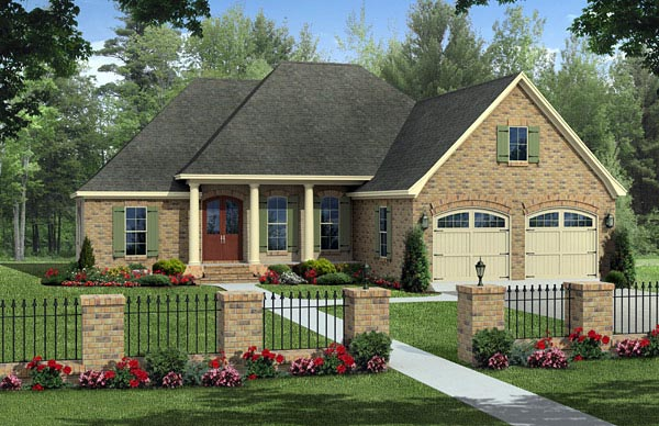 Colonial European Traditional House Plan 59971 Elevation