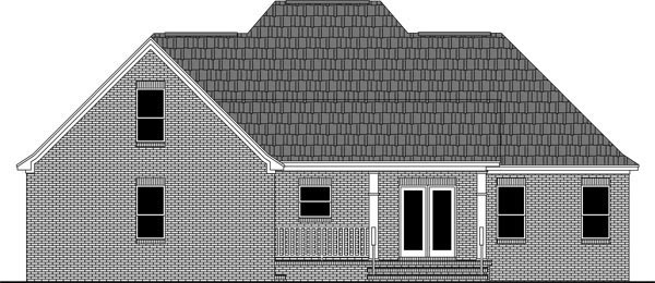 Country European French Country Traditional House Plan 59972 Rear Elevation