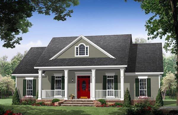 Cottage Country Traditional House Plan 59973 Elevation