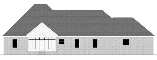Country European French Country Traditional House Plan 59977 Rear Elevation
