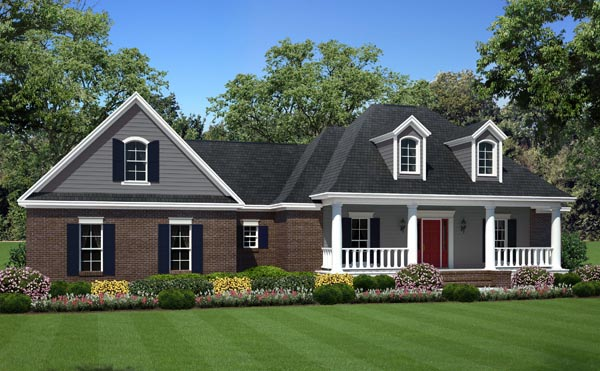 Country Farmhouse Traditional House Plan 59981 Elevation
