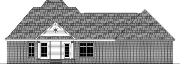 Country Farmhouse Traditional House Plan 59981 Rear Elevation