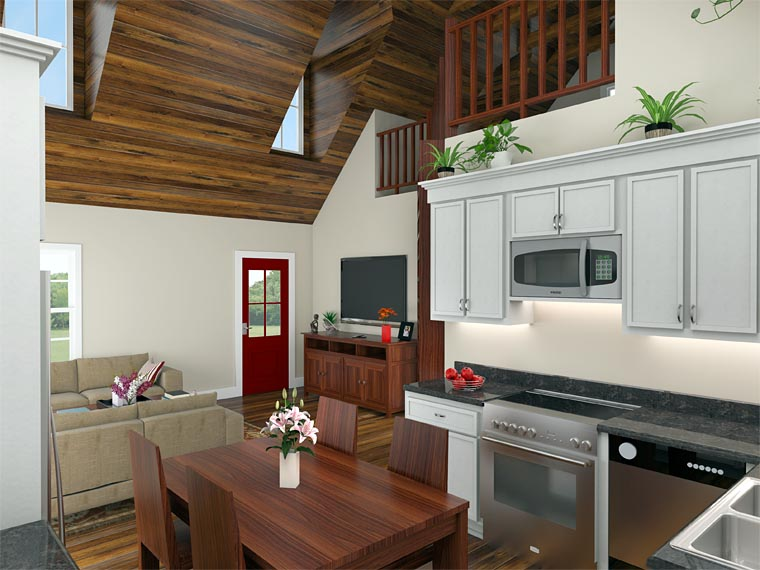 Cabin, Country, Ranch House Plan 59993 with 2 Beds, 1 Baths Picture 2