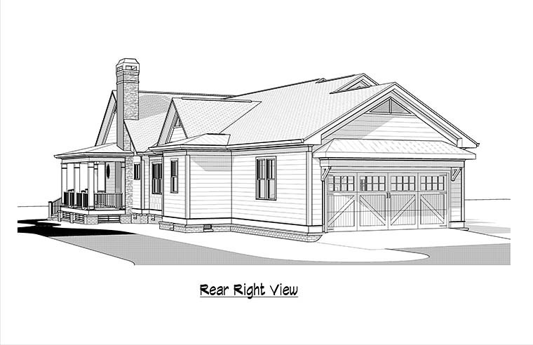 Country Traditional House Plan 60002