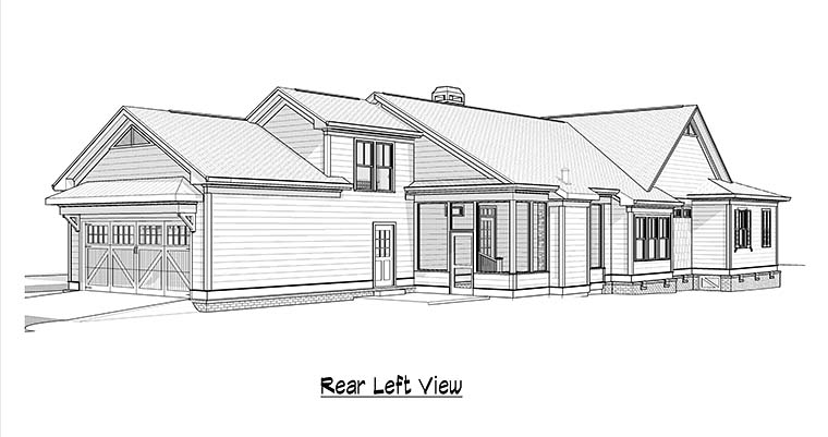 Country Traditional House Plan 60002 Rear Elevation