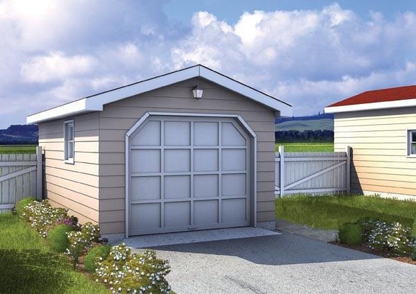 Traditional Garage Plan 6001 Elevation