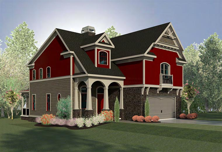 Cottage Country Craftsman Traditional House Plan 60018 Elevation