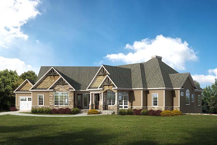 Craftsman Traditional House Plan 60023 Elevation