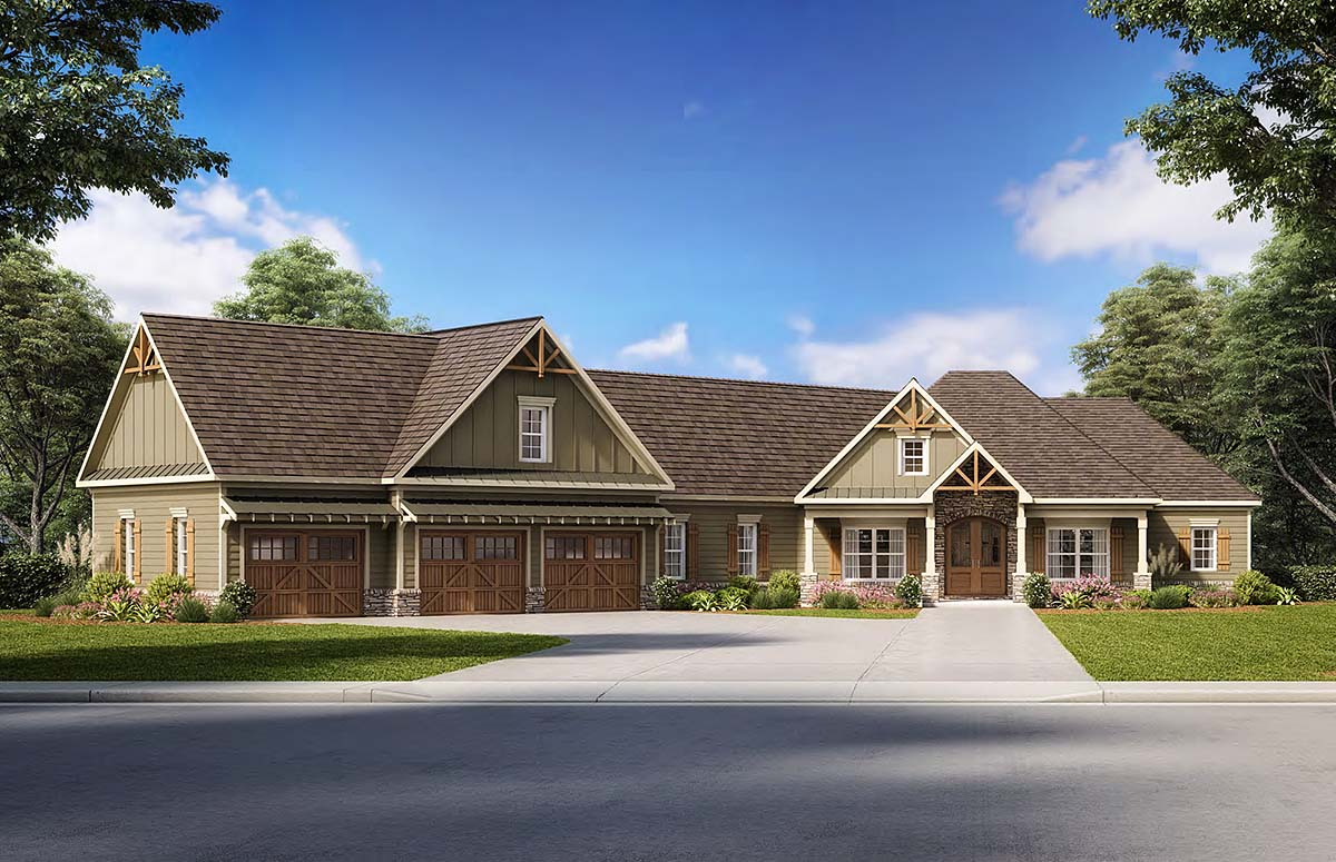 Cottage Country Craftsman Traditional House Plan 60028 Elevation