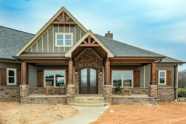 Cottage, Country, Craftsman House Plan 60028 with 4 Beds, 4 Baths, 3 Car Garage Picture 3