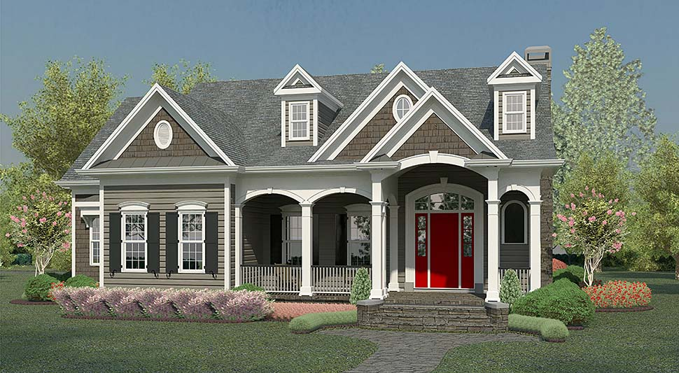 Country, Traditional House Plan 60035 with 4 Beds, 5 Baths, 2 Car Garage Elevation