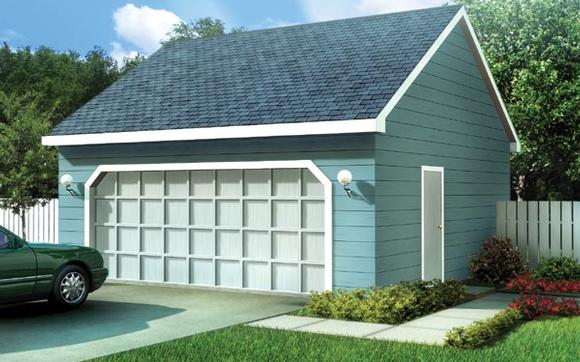 Ranch, Traditional 2 Car Garage Plan 6005 Elevation