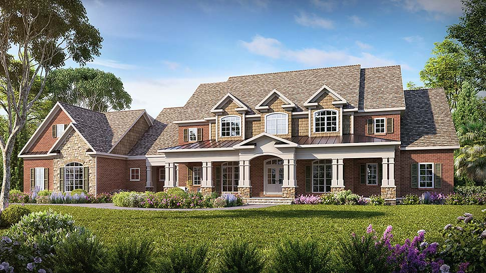 Craftsman, Traditional House Plan 60066 with 4 Beds, 5 Baths, 3 Car Garage Elevation