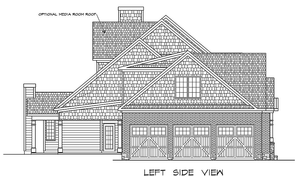 Craftsman, Traditional House Plan 60066 with 4 Beds, 5 Baths, 3 Car Garage Picture 2