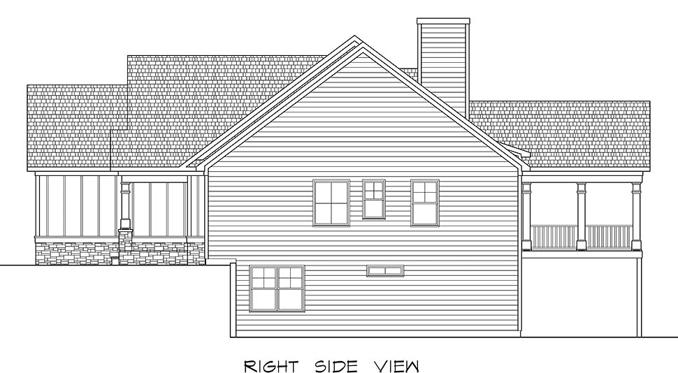 Craftsman, Traditional House Plan 60068 with 3 Beds, 3 Baths, 2 Car Garage Picture 1