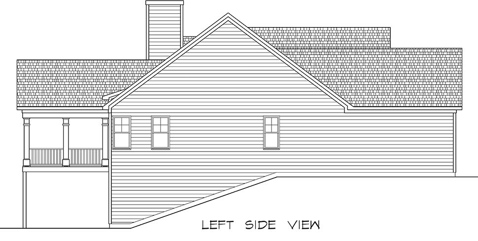 Craftsman, Traditional House Plan 60068 with 3 Beds, 3 Baths, 2 Car Garage Picture 2