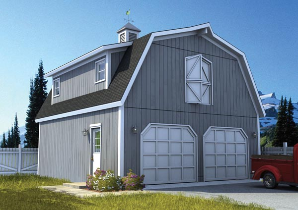 Country Farmhouse Garage Plan 6007 Elevation