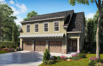 Garage-Living Plan 60079