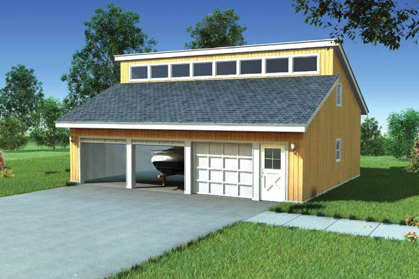 Garage plan 6008 at for Clerestory house designs