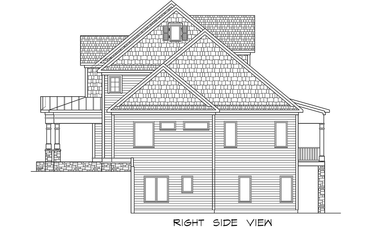 Craftsman, Traditional House Plan 60088 with 3 Beds, 5 Baths, 3 Car Garage Picture 1