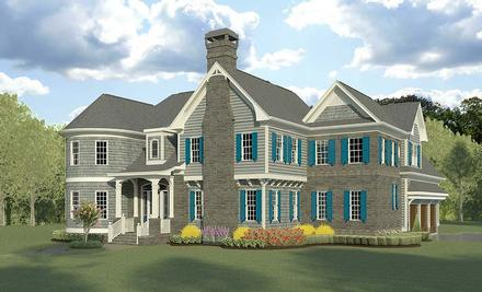 Cape Cod French Country Traditional Elevation of Plan 60090