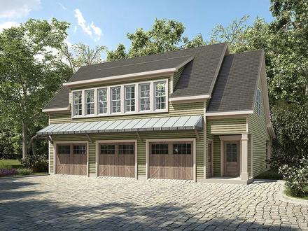 Garage-Living Plan 60092