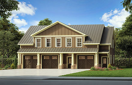 Country Traditional Elevation of Plan 60094