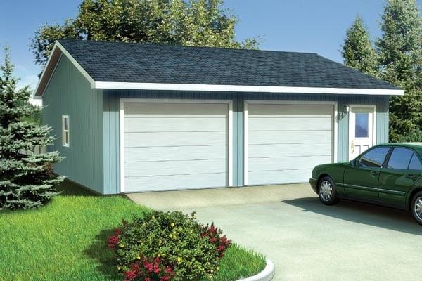 Ranch, Traditional 2 Car Garage Plan 6011 Elevation
