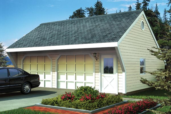 Garage Plan 6014 at FamilyHomePlans – Saltbox Garage Plans