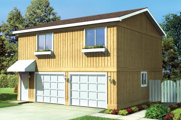Country Traditional Garage Plan 6015 Elevation