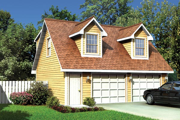 Cape Cod, Traditional 2 Car Garage Apartment Plan 6016 with 1 Beds, 1 Baths Elevation