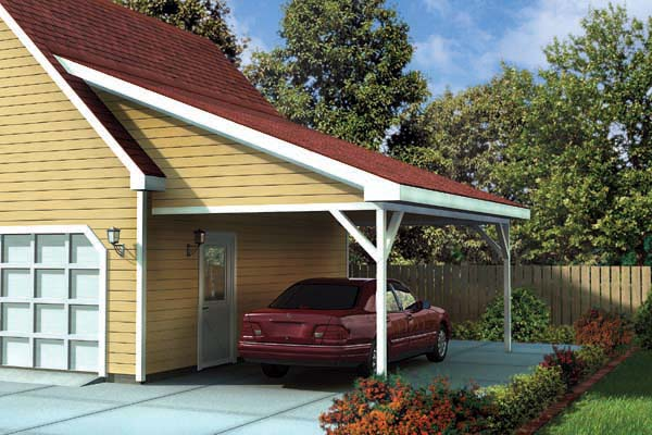 House Plans With Attached Carports : Pdf diy attached carport design plans download arbor
