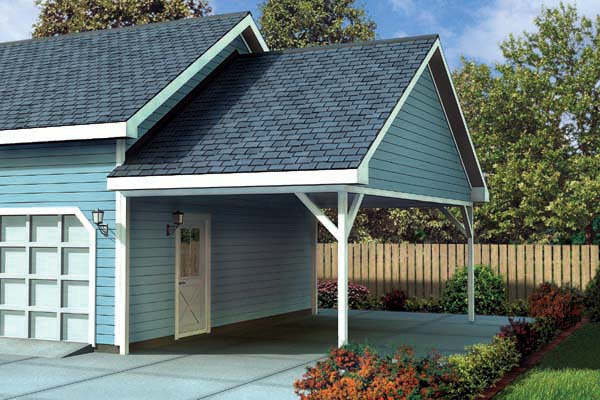 Garage plan 6023 at for Garage plans with carport