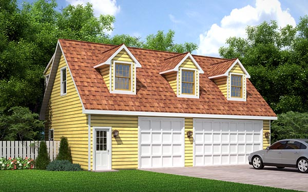 Elevation of Cape Cod   Traditional   Garage Plan 6026