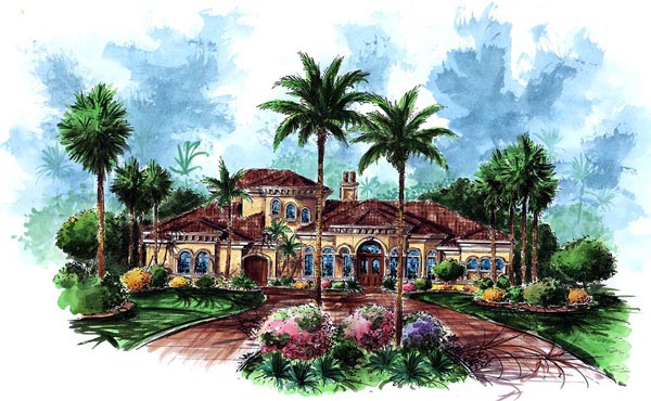 Florida Mediterranean House Plan 60451 Elevation
